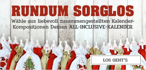 Rundum sorglos - Erstelle Deinen All-Inclusive-Adventskalender.