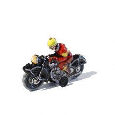 Blechspielzeug - Motorradfahrer in schwarz
