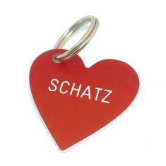 Herz Anhänger - Schatz