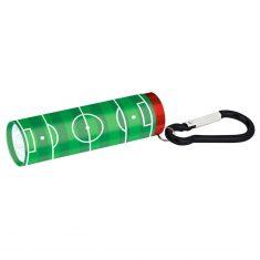 Fußball-Fieber Taschenlampe mit Karabiner, grün