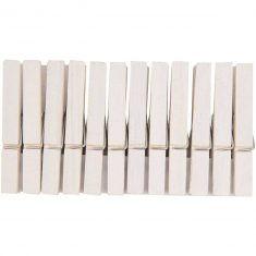 Holzklammern 7,2 cm, weiß, 24 Stück