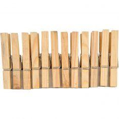 Holzklammern 7,2 cm, natur, 24 Stück