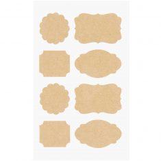 Kraftpapier Sticker Etiketten, 32 Sticker