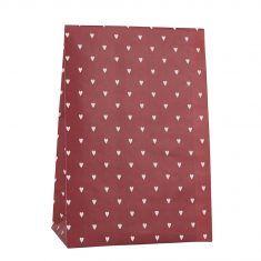 Ib Laursen - Papiertüte Größe L, rot mit weißen Herzen