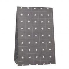 Ib Laursen - Papiertüte Größe L, anthrazit mit Sternen