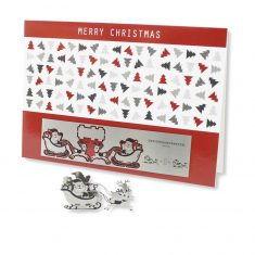 Edelstahl-Grußkarte - Weihnachtsmann