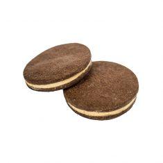 Mürbegebäcktaler - Biscottini al  cacao con cremino al gianduia