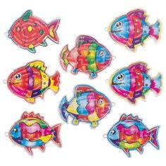 Kugel-Geduldspiel - bunter Fisch