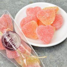 Fruchtgummiherzen - Pfirsich im Spitzbeutel