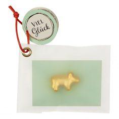 Schwein, Keramik-Glücksbringer - Viel Glück