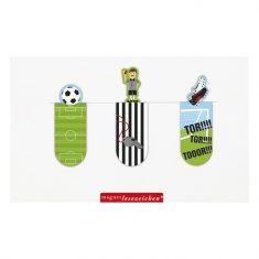 Magnetisches Lesezeichen - Fußball, 3er-Set