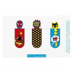Magnetisches Lesezeichen - Superhelden, 3er-Set