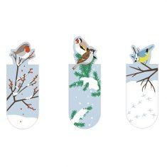 Magnetisches Lesezeichen - Wintervögel, 3er-Set