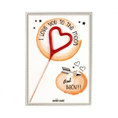 Mini Wondercard - I love yout to the moon ...