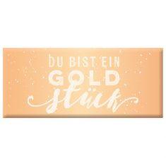 Schoko - Du bist ein Goldstück