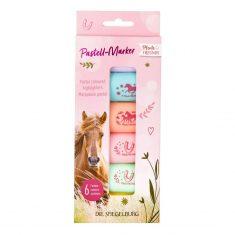 Pastell-Marker - Pferdefreunde, 6er-Set