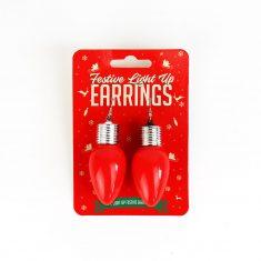 Leuchtende Weihnachts-Ohrringe