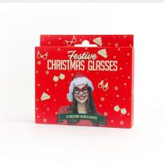 Weihnachtsbrille - Festive Christmas Glasses, 6er-Set