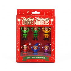 Getränkemarker - Festive Friends Drinks Markers, 6er-Set