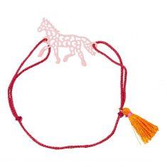 Armband Pferdefreunde, rosa/orange