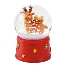 Schneekugel Weihnachten - Rentier