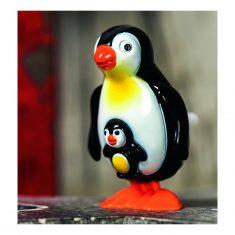 Aufziehfigur - Pinguin mit Baby