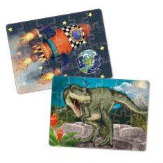 Minipuzzle - T-Rex, Rakete, Feuerwehr