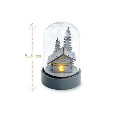 LED Mini-Glas - Wintertraum