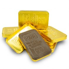 Milchschokolade Goldbarren