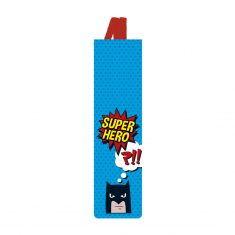 Lesezeichen mit Gummiband - Superhero