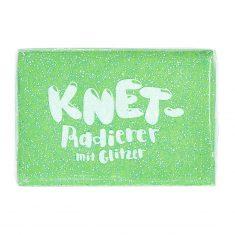 Knet-Radierer Glitzer - grün
