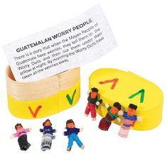 Mini-Sorgenpüppchen in Geschenkschachtel