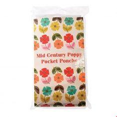 Regenponcho - Mid Century Poppy