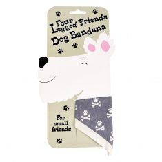 Dog Bandana blau-grau, klein
