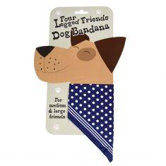 Dog Bandana blau mit Pünktchen, groß