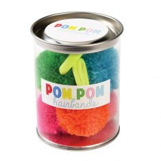 Pom Pom Hairbands, 5 Stück in der Dose