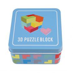 Holzspiel in der Dose - 3D Puzzle Block