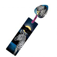 Glitter-Lesezeichen - Zebra