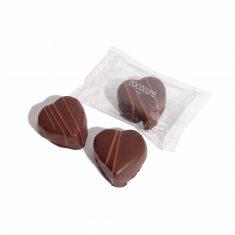 Marzipanherz in Schokolade