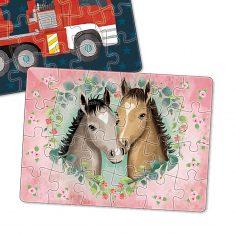 Minipuzzle - Pferde