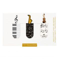 Magnetisches Lesezeichen - Musik, 3er-Set