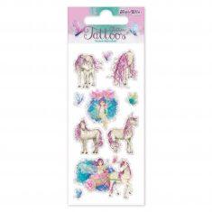 Glitter-Tattoos - Elfe mit Einhorn