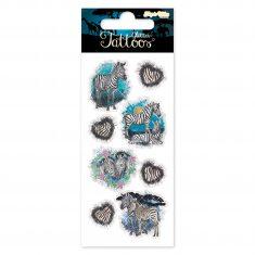 Glitter-Tattoos - Zebras