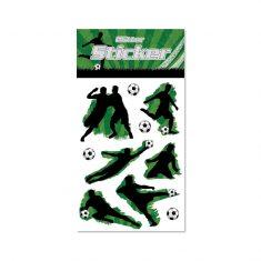 Glitter-Sticker - Fußball