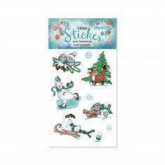 Glitter-Sticker - Weihnachten 1