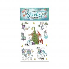 Glitter-Sticker - Weihnachten 2
