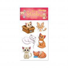 Glitter-Sticker - Niedliche Katzen