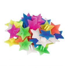 Fröhlich-bunte Speichendeko - Sterne