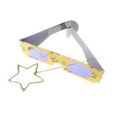 3D-Brille - Stern, mit Stern-Wunderkerze