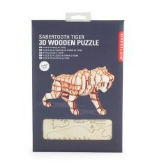 3D-Holzpuzzle - Sabertooth Tiger